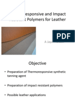 Thermoresponsive and Shape Memory Polymers for Leather 4th Sem 1st Review