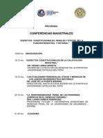 Programa Conferencias Magistrales de Derecho