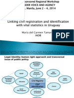 Session 7. Linking civil registration and identification with vital statistics in Uruguay