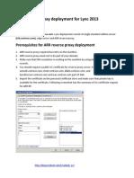 ARR Reverse Proxy Guide for Lync2013