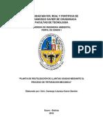 Propuesta de Una Planta Dedicada Al Reciclaje de Neumáticos Usados a Través de Su Trituración (Autoguardado)