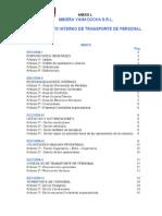 ANEXO L Reglamento Interno de Transporte de Personal