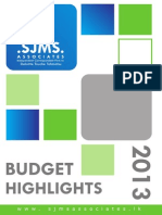 SJMS Associates Budget Highlights 2013