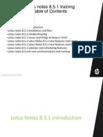 Lotus notes 8.5 Training