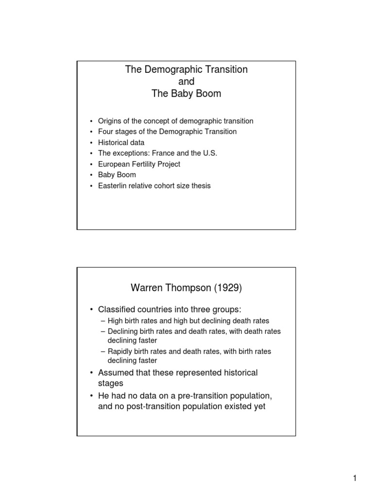 what are the four stages of the demographic transition