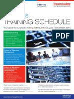 Training Schedule Aug Dec 2014