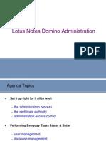 LotusNotesDomino Administration
