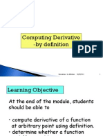 Derivatives Module 1 September 2011