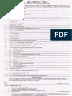 Gatt Declaration Form