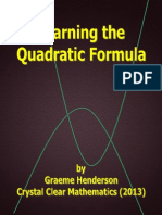 How to Learn the Quadratic Formula