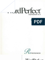 WordPerfect 6.0 Reference (Windows)