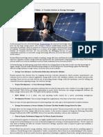 Richard Mintz- A Trusted Advisor in Energy Strategies