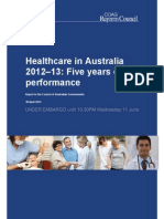 Healthcare in Australia 2012-13