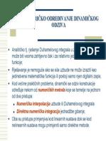 Dinamika Predavanja007 Numericko Odredjivanje Dinamickog Odziva
