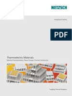 Thermoelectric Materials Material Characterization, Phase Changes, Thermal Conductivity