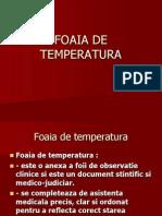 Foaia de Temperatura