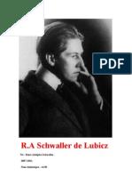 Extractos de R.A Schwaller de Lubicz