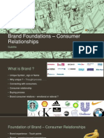 Brand Foundations – Consumer Relationships