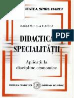 2010 DidacticaSpecialitatii Aplicatii La Discipline Economice