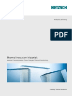 Thermal Insulation Materials Material Characterization, Phase Changes, Thermal Conductivity