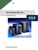 Variador de Frecuencia Micromaster 420