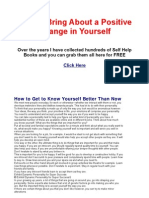 How to Bring About a Positive Change in Yourself