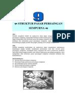 Modul 9 Struktur Pasar Persaingan Sempurna