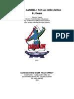 Proposal Bantuan Sosial Komunitas Budaya