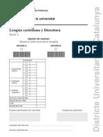 Examen Llengua Castellana PAU 2014