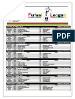 First Round League Fixtures for Monday 24 March to Friday 4 April 2014