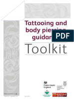 Tattooing and body piercing guidance