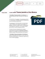 Chá Blue Tisana Jasmim e Uva Branca