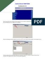 Instructions KWP2000