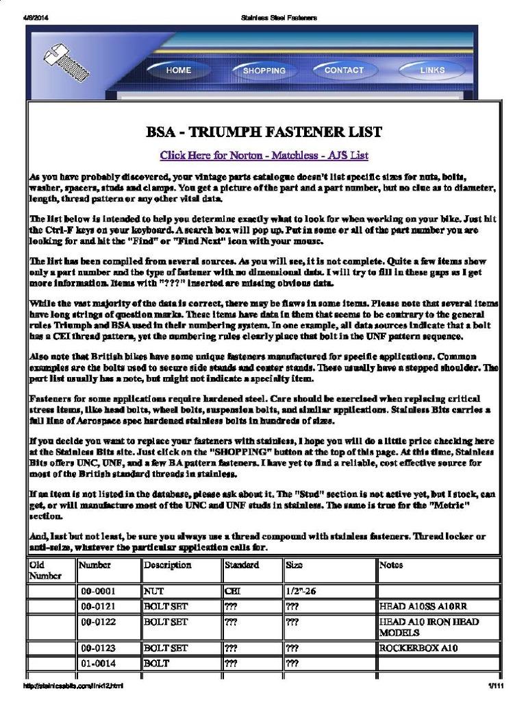TRIUMPH EARLY PRE-UNIT CRANKSHAFT FLYWHEEL NUT /& BOLT SET 70-1562 37-0103 UK