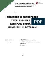 Asezarea Si Perceperea Impozitelor Si Taxelor Locale Pe Exemplul Primariei New