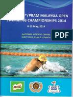 57th Malaysia Open Swimming Championship 2014