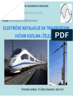 Elektricne Instalacije Na Vucnim Transportnim Vozilima i Zeleznici