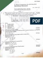 Operation research question paper vtu