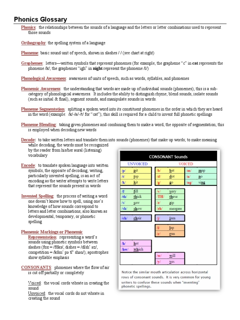 Phonics glossary syllable phonics biocorpaavc