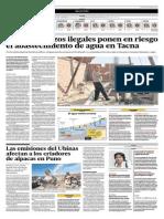 Unos 400 pozos ilegales ponen en riesgo abastecimiento de agua en Tacna