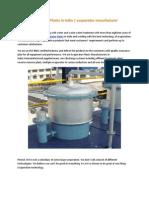 EvaporaEvaporator Plants in India | evaporator manufacturertor Plants in India