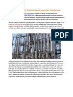 Evaporator PlantEvaporator Plants Manufacturers   evaporator manufacturers Manufacturers