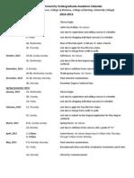 Undergraduate 2014-15 Calendar