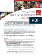 Women in times of transition. 1325 in Sri Lanka