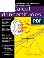 Livre Incertitudes