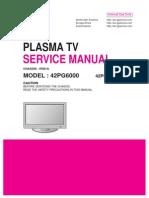TV LG -Plasma Modelo 42PG6000-ZA