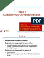Tema 5-Subsistemas Combinacionales