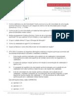 Monitoria Química Cinética Química I 05-05-2014