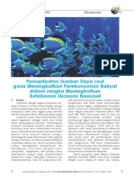 Pemanfaatan Sumber Daya Laut