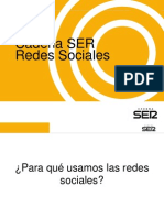 Las Redes Sociales en La Cadena SER I Perez